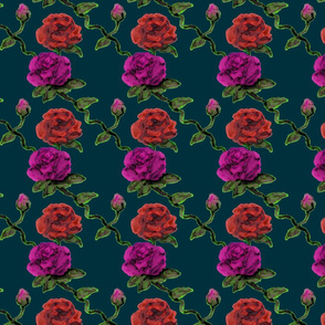 Abstract Rose - Black Red