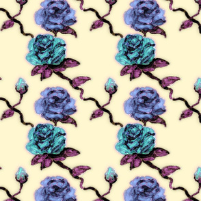 Rose - Yellow Blue Teal