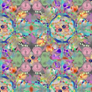 Kaleidoscope Flower - Pink Grey Blue