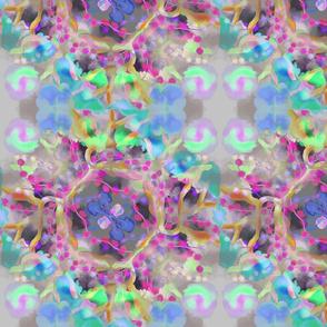 Kaleidoscope Flower - Green Pink Blue