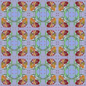 Kaleidoscope Flower - Blue Orange Green