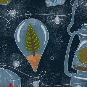 A Whimsical Wonderland of Terrific Terrariums and Luminous Lanterns