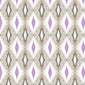 Pearl and Lavender Diamonds