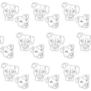 Dog print- Winston and Peaches