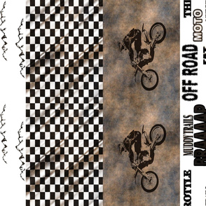 Dirtbike Cheater Quilt Rotated