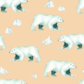 Arctic Pals / Polar Bear Coordinate on Peach