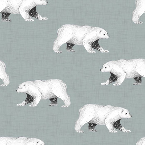 Arctic Pals / Coordinate Black and White Polar Bear