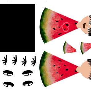 Watermelon Kid Plushy