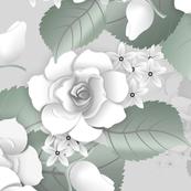 White Roses - Grey