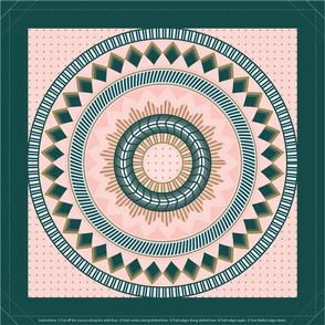 Geometric Napkins Rose