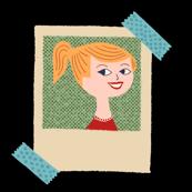 Blonde Polaroid Lady