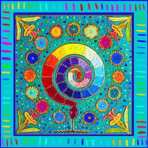 Shaman Serpent Peyote Ritual - Medium scale
