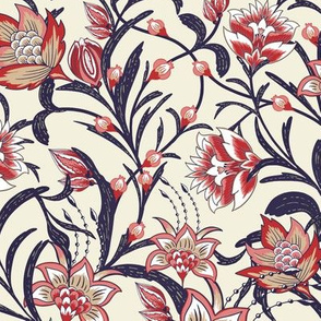Chintz Red Blue