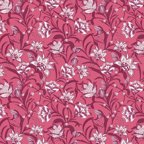 Chintz Deep Pink Floral by Jac Slade