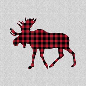 2 yard -  Minky Layout - buffalo plaid moose - C19BS