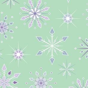 Snowflake Flurry - Light Green