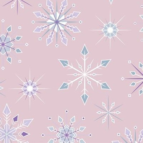 Snowflake Flurry - Pink