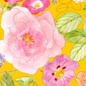 Chintz Roses yellow