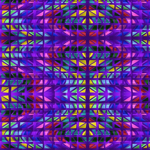 2 Jewel Tones on Quilted Purple in Mirror Repeat