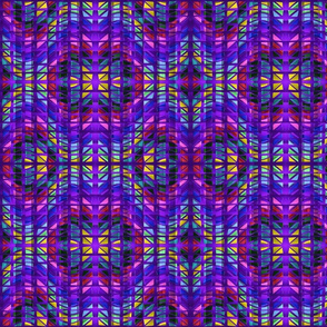 Jewel Tones on Quilted Purple