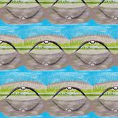 Medium Eagle over Water by DulciArt,LLC