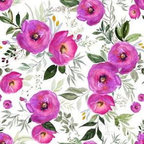 Berry Watercolor Florals