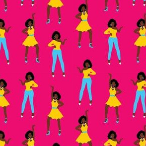 African American girls dancing