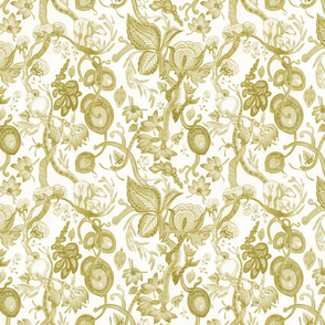 META CHINTZ Antique Chartreuse