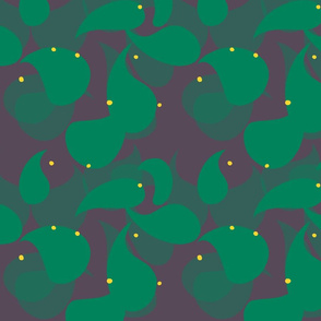 Whimsical Paisely Design green