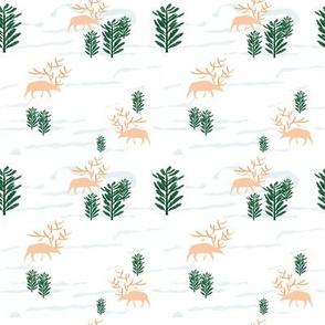 Deers on the Plain