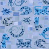 Southwest Gecko Fantasyland Wallpaper