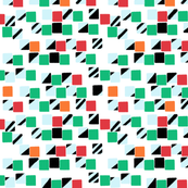 Squares and Strips Green