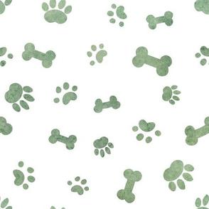 Whimsical Dog Paws & Bones