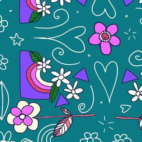 Jewel tone flower power