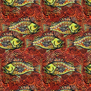 Orange Rockfish Tribal repeat