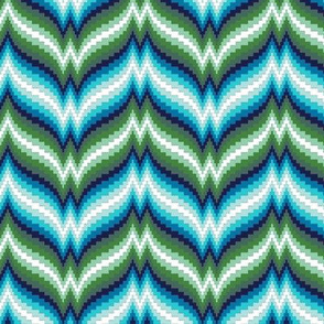 Bargello Afghan* (Dollar Bill) || knit crochet stitch zig zag chevron 70s retro jewel tones psychedelic