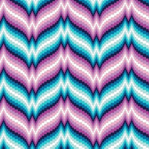 Bargello Afghan* (Vesuvius) || knit crochet stitch zig zag chevron 70s retro jewel tones
