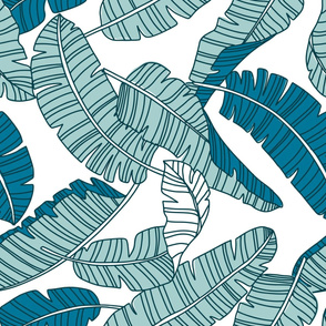 Blue banana leaves  large scale