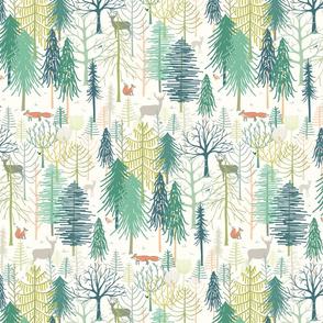 woodland winter wonderland medium scale by Pippa Shaw