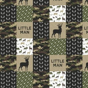 "(1.5"" scale) Little Man Camo Patchwork - Woodland wholecloth - C2 camouflage C19BS"