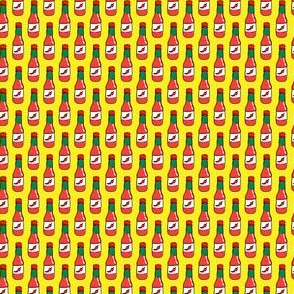 (micro scale) hot sauce bottle - yellow - LAD19BS