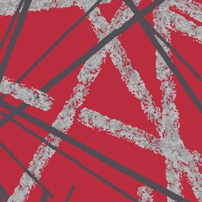 Red texture sticks
