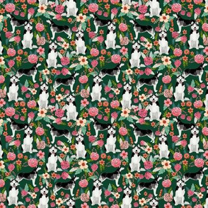 TINY = husky floral fabric cute huskies fabric best dog fabric quilting fabrics cute dog quilting design