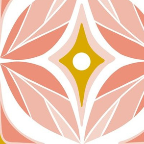 Optic - Mid Century Modern Geometric Jumbo Scale Blush Pink