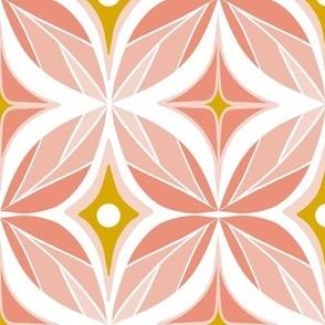 Optic - Mid Century Modern Geometric Large Scale Blush Pink