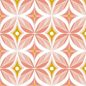 Optic - Mid Century Modern Geometric Regular Scale Blush Pink