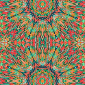 Kaleidoscope - wild orange checkerboard