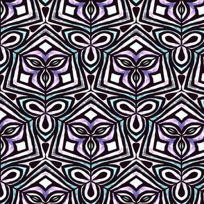 Teal and Purple Geometric 24