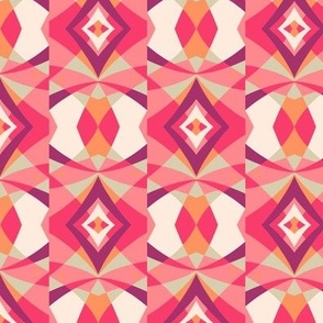 Kaleidoscope diamond fuchsia