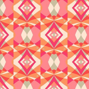 Kaleidoscope diamond pink